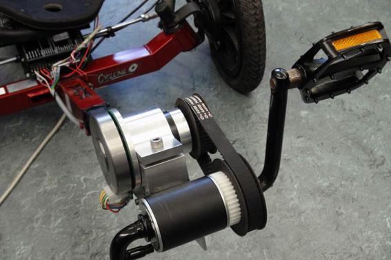 Irpt The 90 W Flat Motor Used In The Recumbent Trike