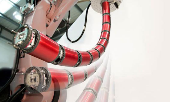 Robotic Snake Arm Flies Into Tight Spaces