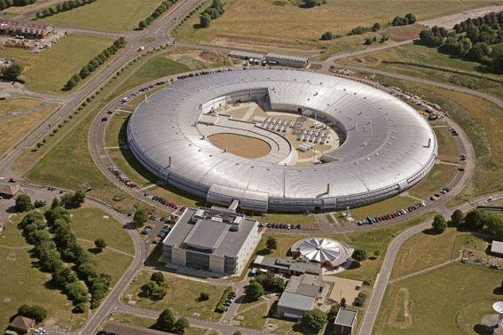 The Diamond Light Source particle accelerator in Oxfordshire © 2013